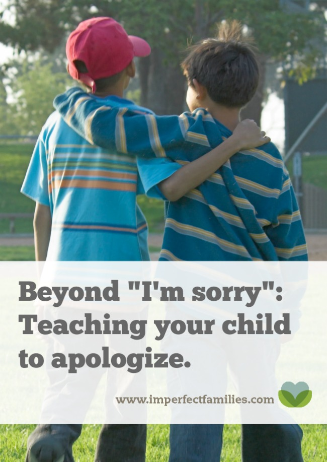 """Instead of forcing your child to say """"I'm sorry"""" help them understand how to make a heartfelt apology."""