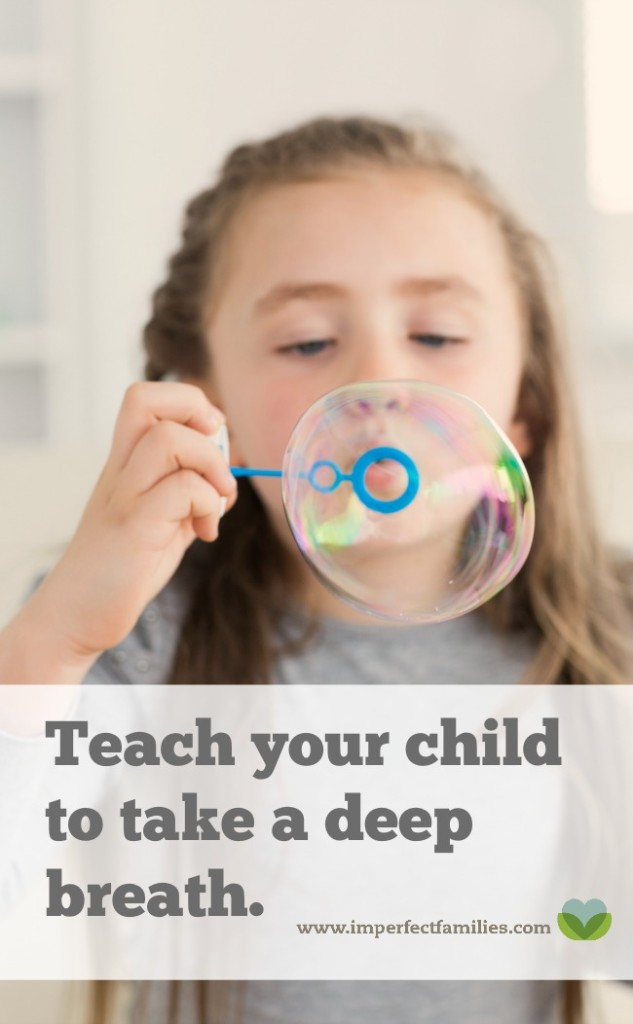 """Instead of telling your kids to """"calm down,"""" teach them how to take a deep breath using these 5 simple tips!"""