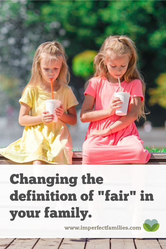 Instead of trying to make everything equal between your kids, change the definition of fair so each child gets what they need.