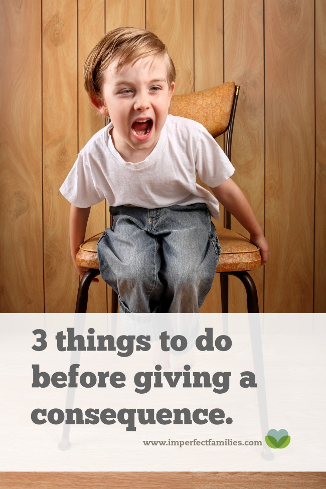These 3 steps will help you give your kids consequences that are more effective, in fact, you may find that you don't need consequences at all!
