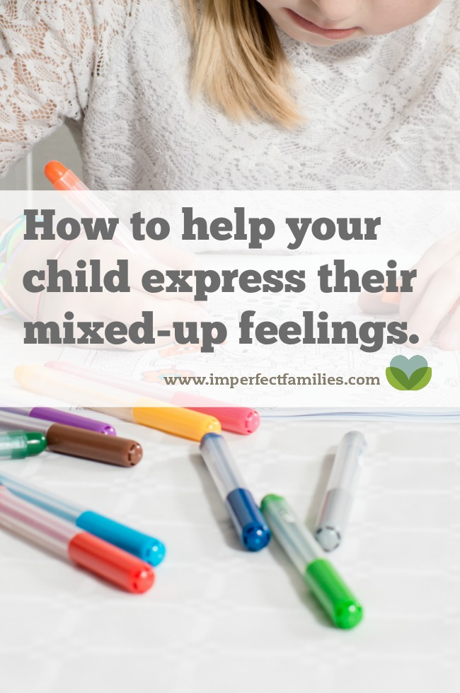 Using art and color can help your child identify and express their feelings! Build emotional intelligence and help your child understand their mixed up feelings!