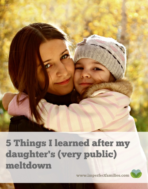 A reflection on parenting after my daughter's screaming, crying, out-of-control and very public meltdown