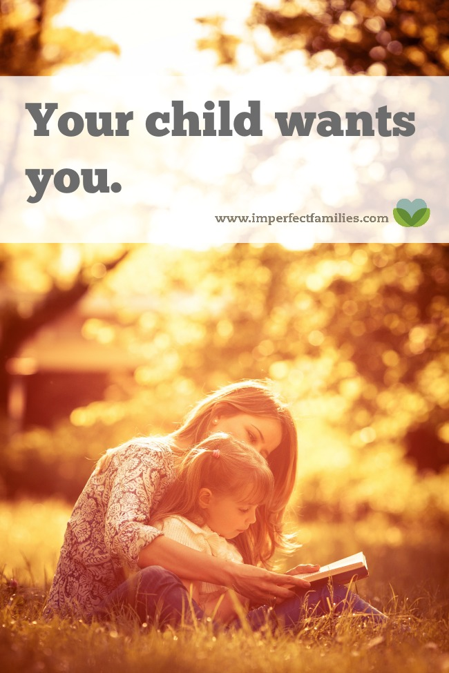 I know it seems like your kids only care about toys and video games, but what they want more than anything is actually...YOU!