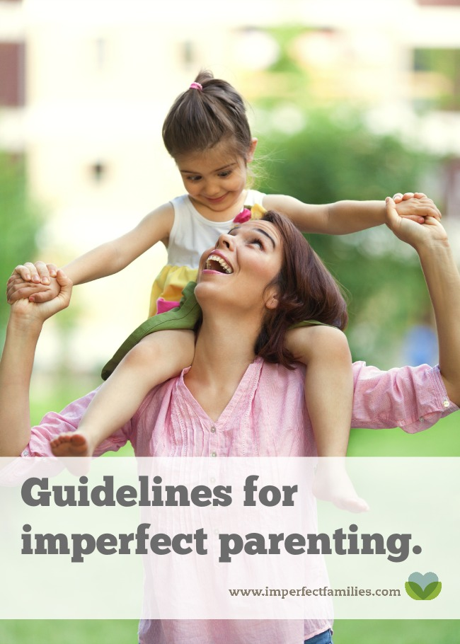 Your kids don't need a perfect parent, they just need you! Embrace your parenting imperfections and use them to teach, model and guide your kids.