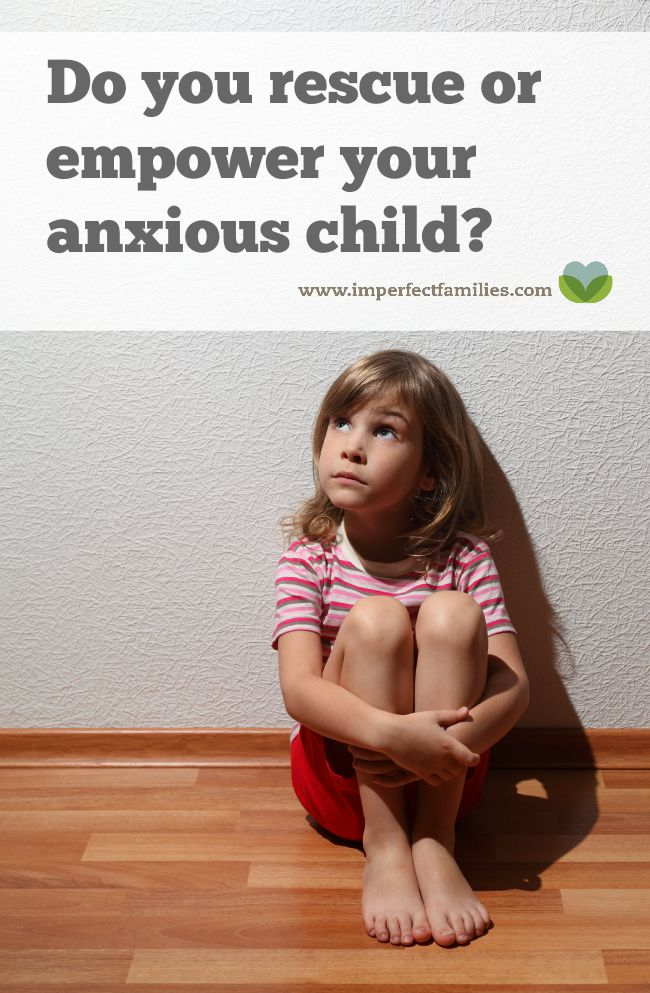 """Many parents rescue their anxious child instead of helping them deal with the feeling until it fades. Learn how to support your child using the """"anxiety arch"""" explanation"""