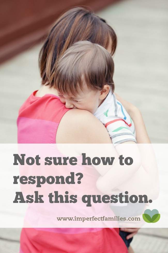 Not sure what to say or do when your kid is acting out or melting down? Try asking yourself this question.