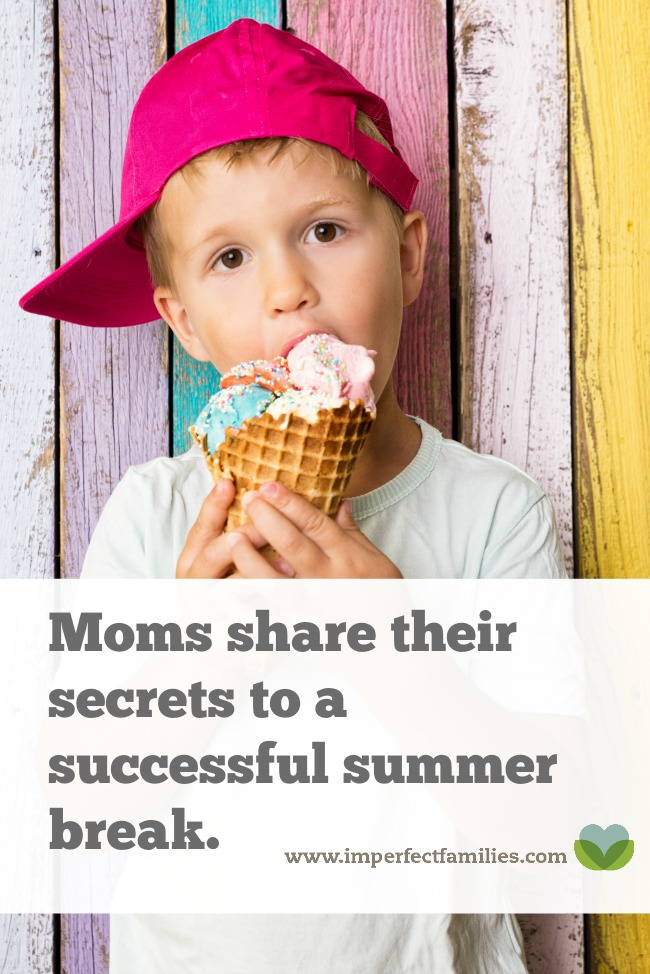 Kids off school for summer vacation? Use these tips from moms who've been there to make your summer break a success!