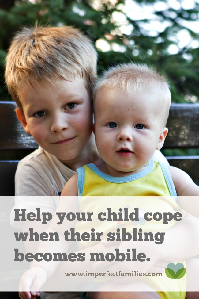 Sometimes the newborn phase is a breeze compared to when your baby starts moving. Help your older child cope with this transition!