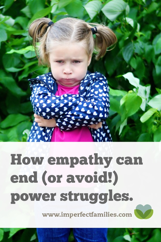 Tired of the power struggles? Responding with empathy is a great way to teach your child and to disengage from those big battles!