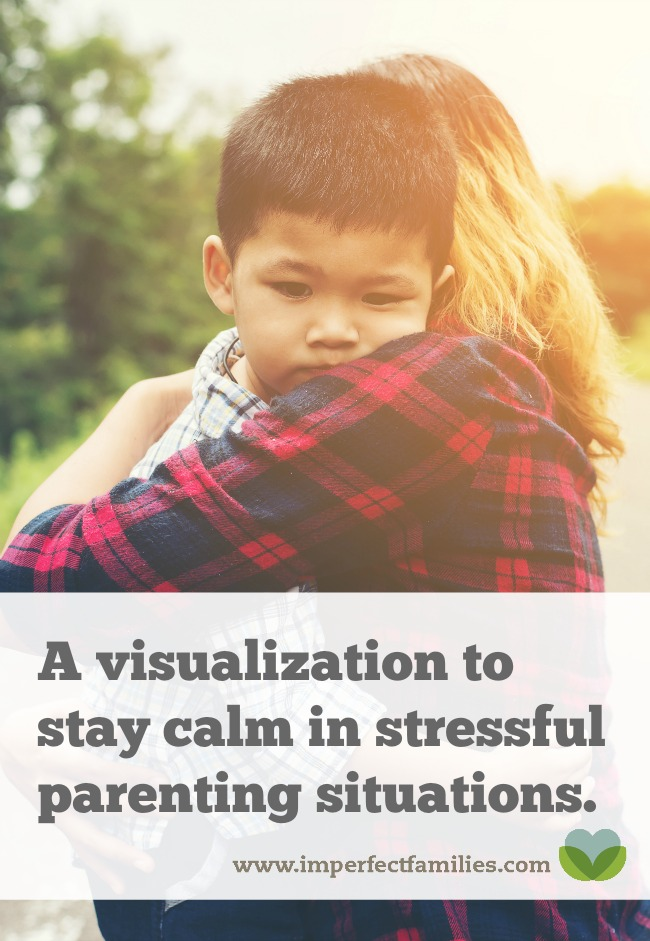 Stress makes you feel like you don't have options. Use this visualization to explore alternatives to yelling in stressful parenting situations.