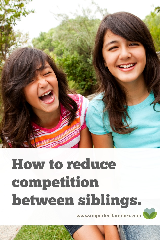 If you're tired of the arguments, and competitions, try these tips to reduce competition between siblings.