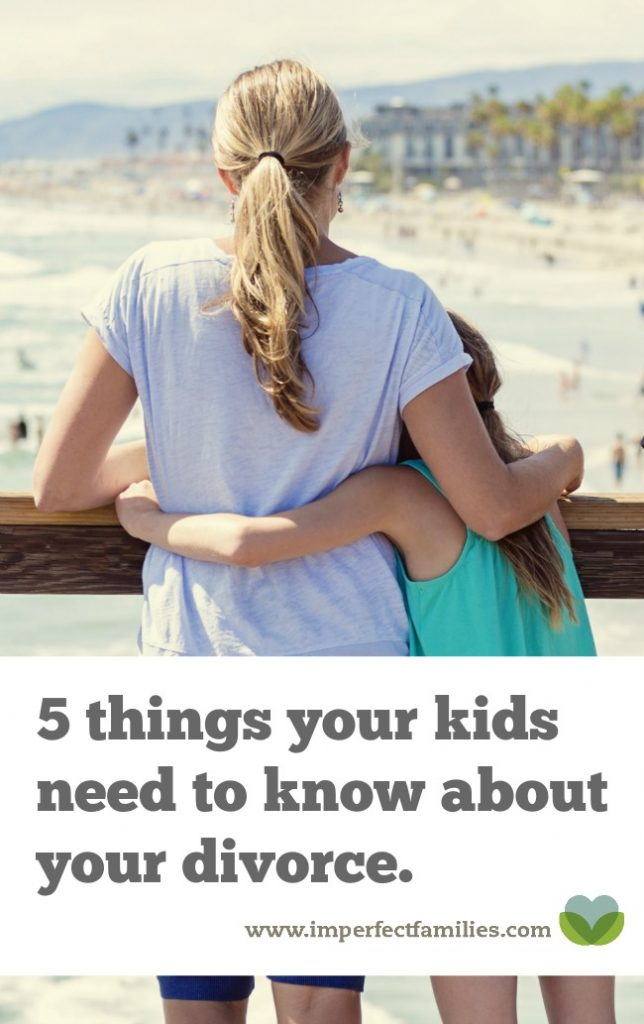 If you're going through a divorce or separation, there are 5 things your child needs to know (and 3 things they don't!) Written by a marriage and family therapist.