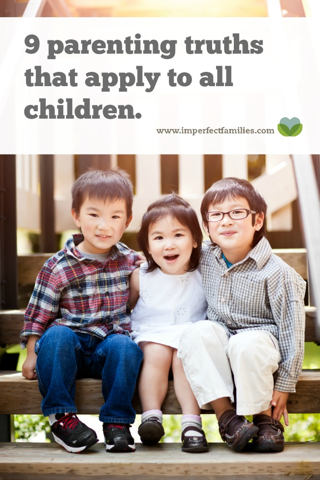 """Parenting advice gets murky. Instead of looking for the """"one"""" solution, let's look at truths about children in general."""
