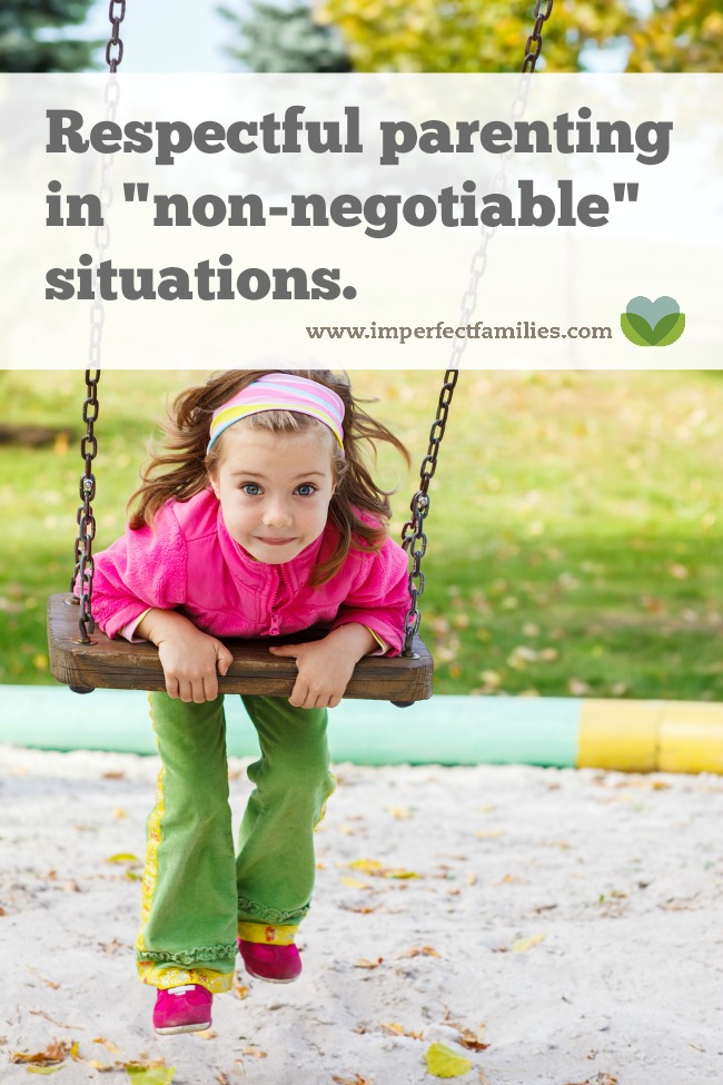 "Learn what to do when your child is refusing to do something that is ""nonnegotiable"""