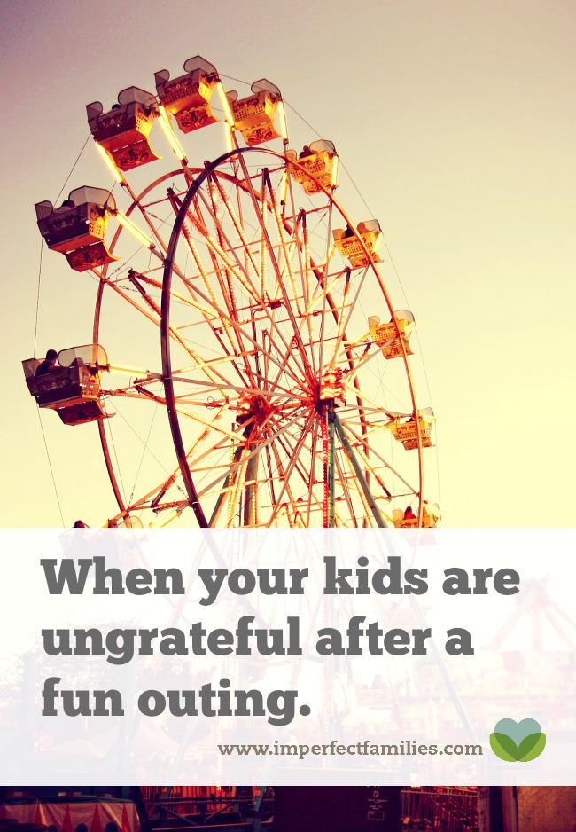 Tired of the complaining and grumbling from your kids after a fun activity? Try these tips when your kids are ungrateful.