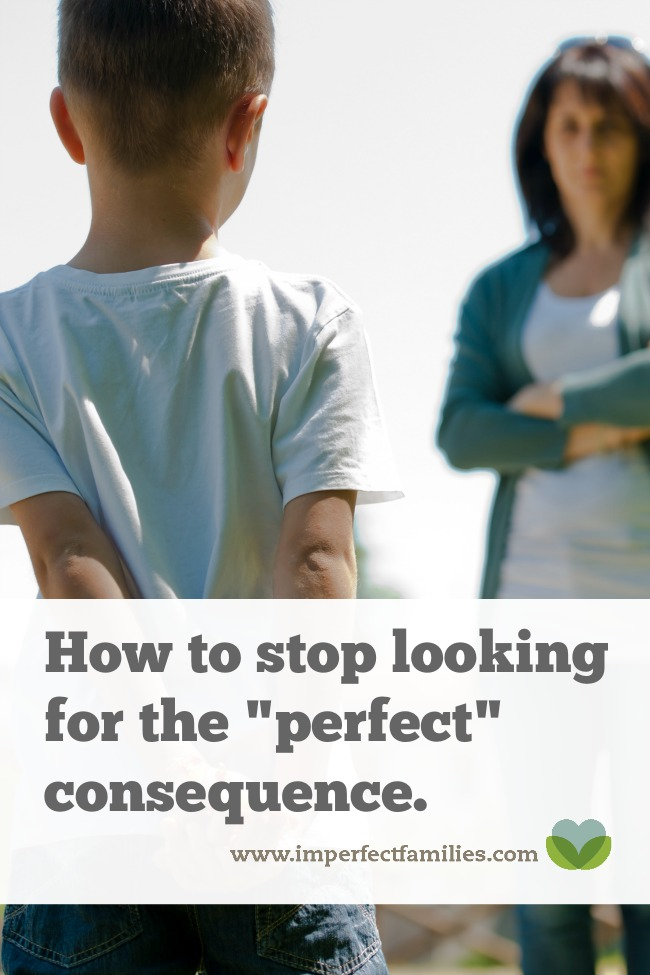 """Stop trying to find the """"perfect"""" consequence"""