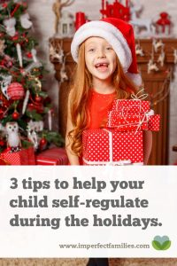 The holidays are stressful. Instead of expecting your kids to have more self-regulation, step in and help them manage the stress using these 3 tips.