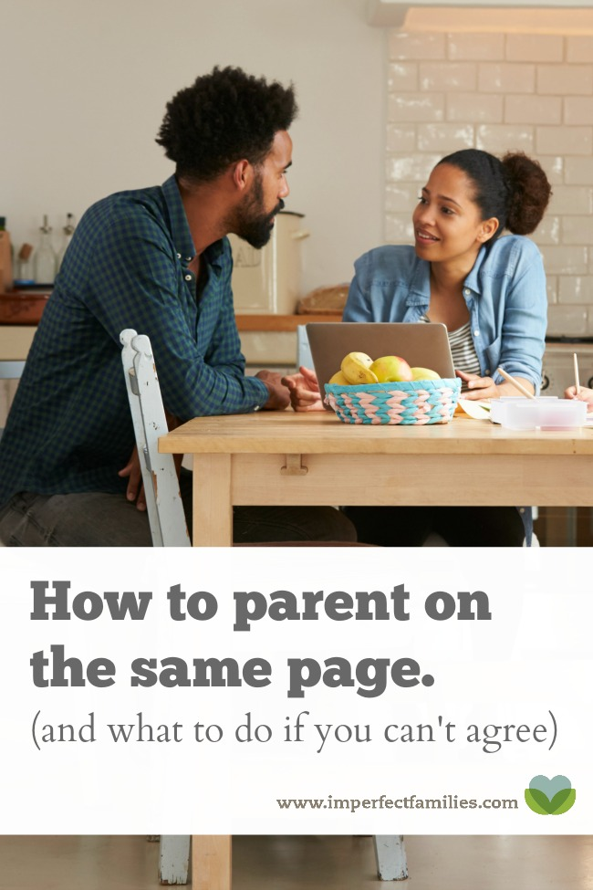 How to get on the same page as your co-parent, plus what to do if they do not agree with your parenting style.