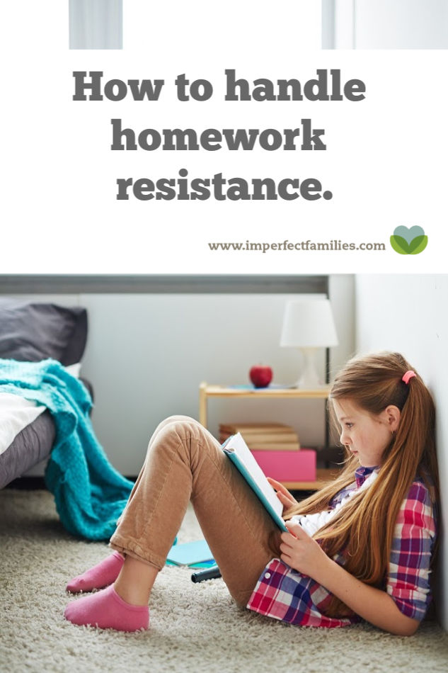 How to handle homework resistance with kids