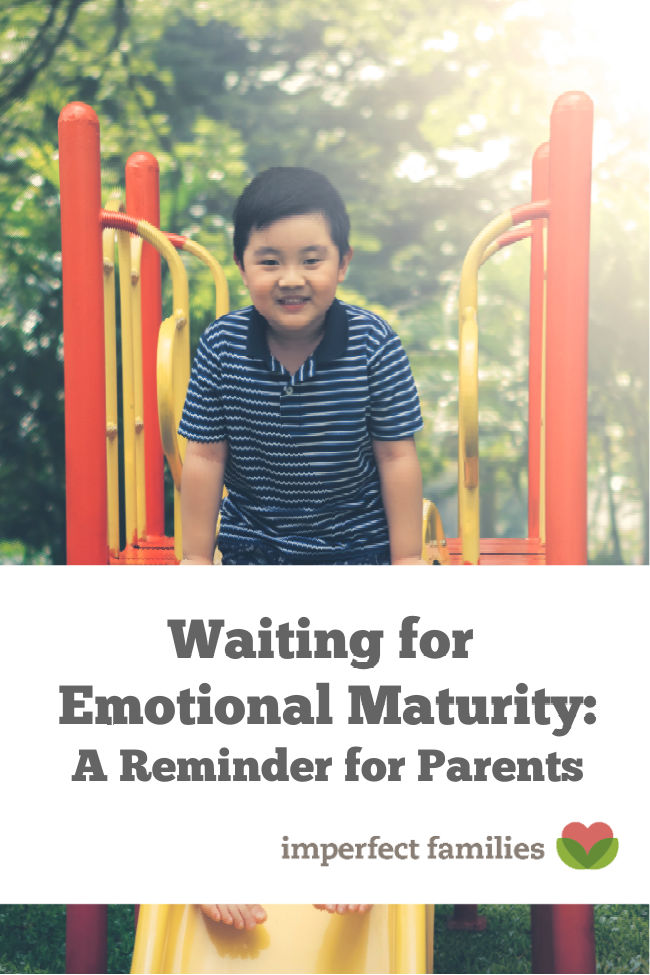 Waiting for your child to mature emotionally can be exhausting, here are some tips.